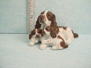 Image Is Loading Dollhouse Miniature English Springer Spaniel Dog Amp Puppies