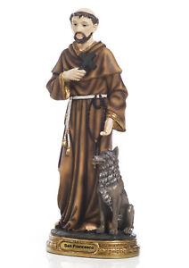 Statua-San-Francesco-d-039-Assisi-in-resina-cm-20-by-Paben