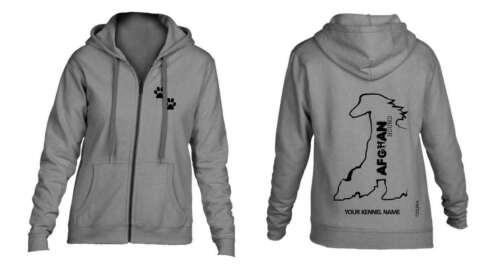 Afghan Hound Full Zipped Dog Breed Hoodie Exclusive Dogeria Design,