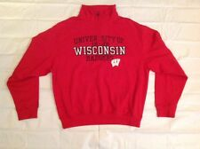 Wisconsin Badgers NCAA 1/2 Zip Sweatshirt Jansport Limited Edition Mens L NWT