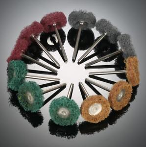 x12-Finishing-Brush-fit-dremel-Scouring-Pad-Abrasive-Wheel-Grinding-Sanding-grit