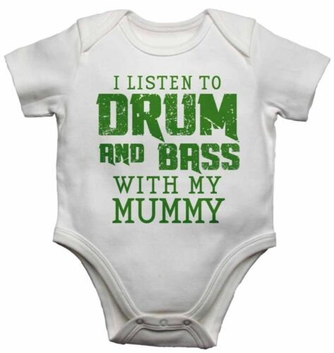 Baby Vests Bodysuits for Boys Girls I Listen to Drum /& Bass With My Mummy