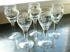 Set of Five  Etched Crystal Apperitif/Sherry/Port Glasses Made in Poland