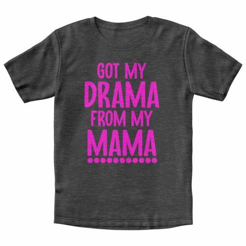 T-Shirt Divertente ricevuto il MIO DRAMMA DALLA MIA MAMMA T-Shirt Regalo Per Lei Sassy Compleanno Tee