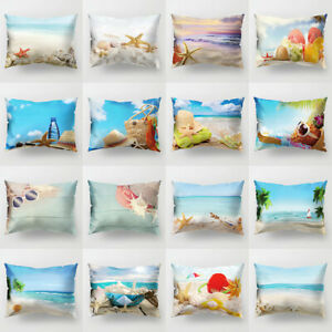 Am-FP-Fresh-Starfish-Shell-Throw-Pillow-Protector-Case-Cushion-Cover-Bed-Decor