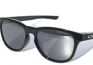 NEW  Oakley STRINGER Black Polished w Chrome Iridium Lens Sunglass ... a3c72ef760
