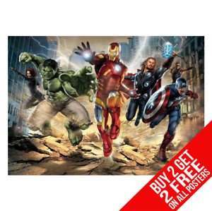 Avengers-Marvel-Poster-Arte-Impreso-A4-A3-Tamano-Buy-2-GET-ANY-2-Free