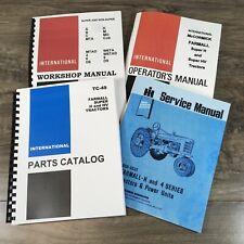 Farmall International Super H Tractor Service Parts Operators Manual Set Repair