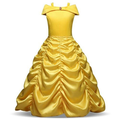 Cosplay vestido de princesa bella vestidos de niñas para La Bella y La Bestia