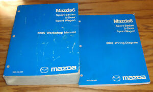 Original 2005 Mazda Mazda6 6 Shop Service Manual + Wiring ...
