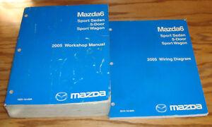 Original 2005 Mazda Mazda6 6 Shop Service Manual + Wiring ...