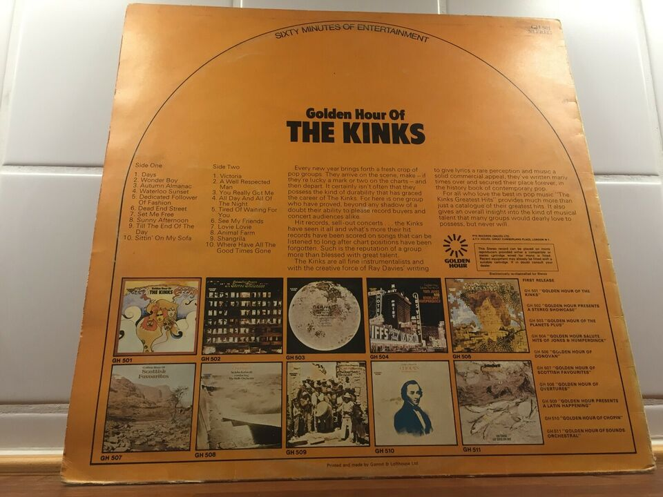LP, The Kinks, Golden Hour Of The Kinks