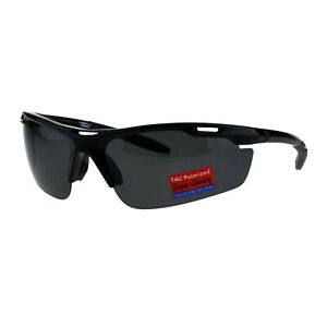 TAC Polarized Sunglasses Mens Oval Rectangular Sports Wrap Around Shades