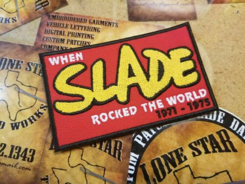 EMBROIDERED SLADE ROCK BAND PATCH