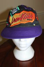 Vintage 1996 Flat Bill Hat, Retro Neon Colors, USA Olympics Iron Kids Bread, NWT
