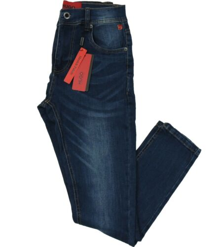 NWT Hugo Boss Red Label Maine Jeans Super Skinny Stretch Dark Blue RRP $154.00
