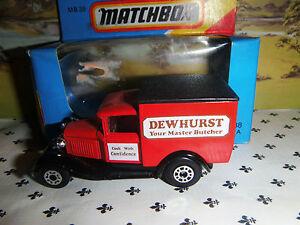 Matchbox Model Mb38 Dewhurst Red Van Black Roof Oo ? Scale Des Biens De Chaque Description Sont Disponibles
