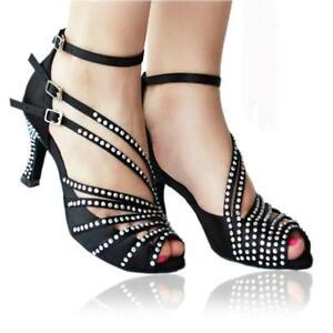 scarpe-da-ballo-nere-latino-donna-tacco-strass-gioiello-argento-salsa-tango-nero