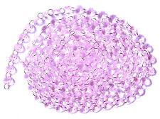 12Feet Diamond Prisms Glass Crystal Octagon Beads Wedding Chandelier Parts Pink