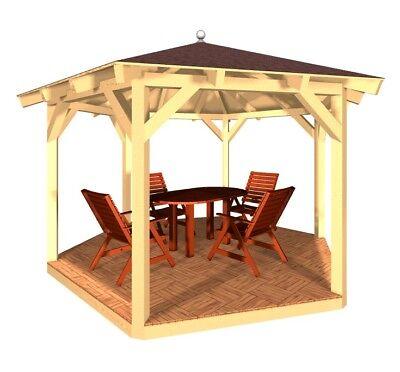 Gartenpavillon Gartenlaube Holzpavillon Pavillon Sonnenschutz Moderne Techniken