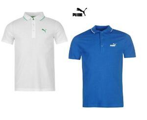 Mens-Genuine-Puma-Pique-amp-Jersey-Polo-Shirt-Short-Sleeved-White-Top-Size-S-XXL
