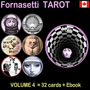 fornasetti-tarot-card-cards-deck-major-arcana-vintage-oracle-book-guide-rare-set