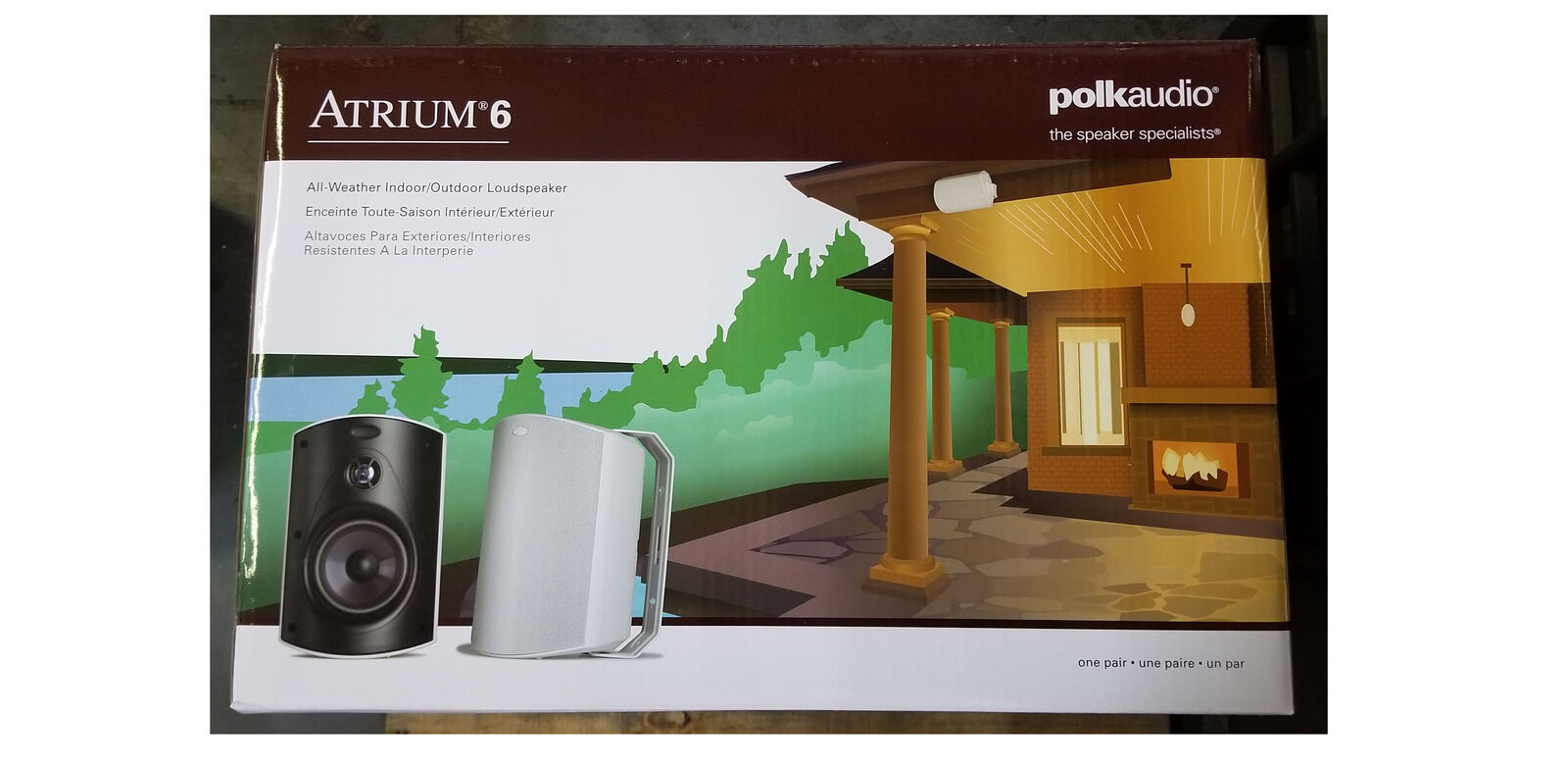 Polk Audio Atrium 6 Speakers (Pair, White)