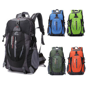 1047a5baa171 Image is loading Outdoor-Hiking-Camping-Waterproof-Nylon-Travel-Luggage- Rucksack-