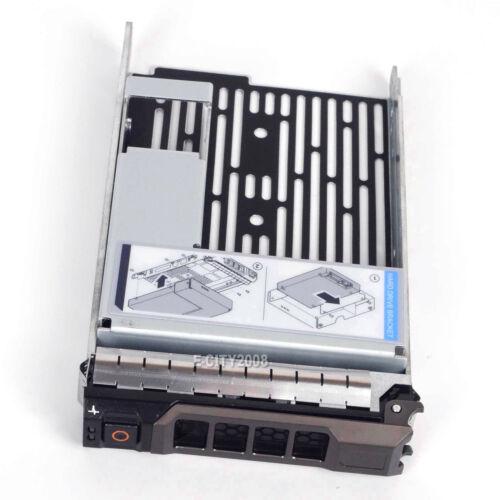 "3.5/"" SAS SATA Hard Drive Tray Caddy w// 2.5/"" Adapter For Dell PowerEdge R410 New"