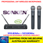 thumbnail 1 - SONKEN WM800D 2X PROFESSIONAL UHF WIRELESS MICROPHONES WITH LED MIC FREQ DISPLAY