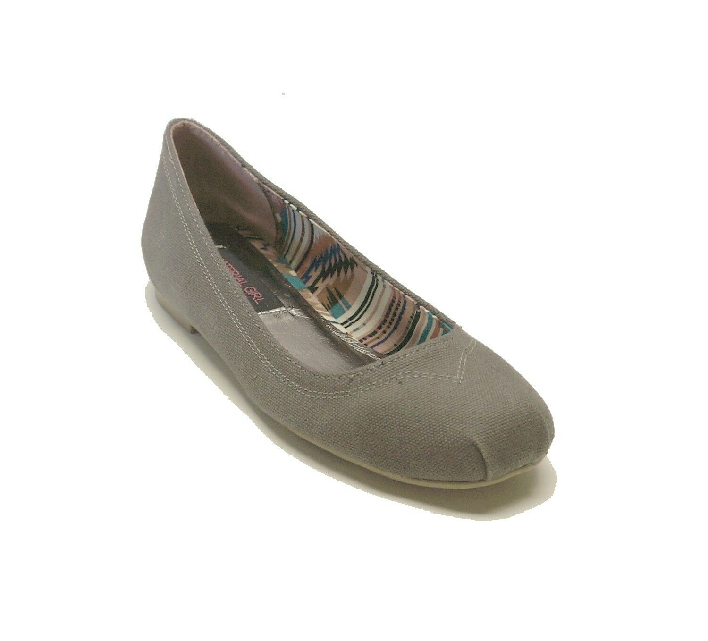 New! Material Girl Gray Fabric Flats 5 NONA Women's Shoes sz 5 Flats 44b6ac