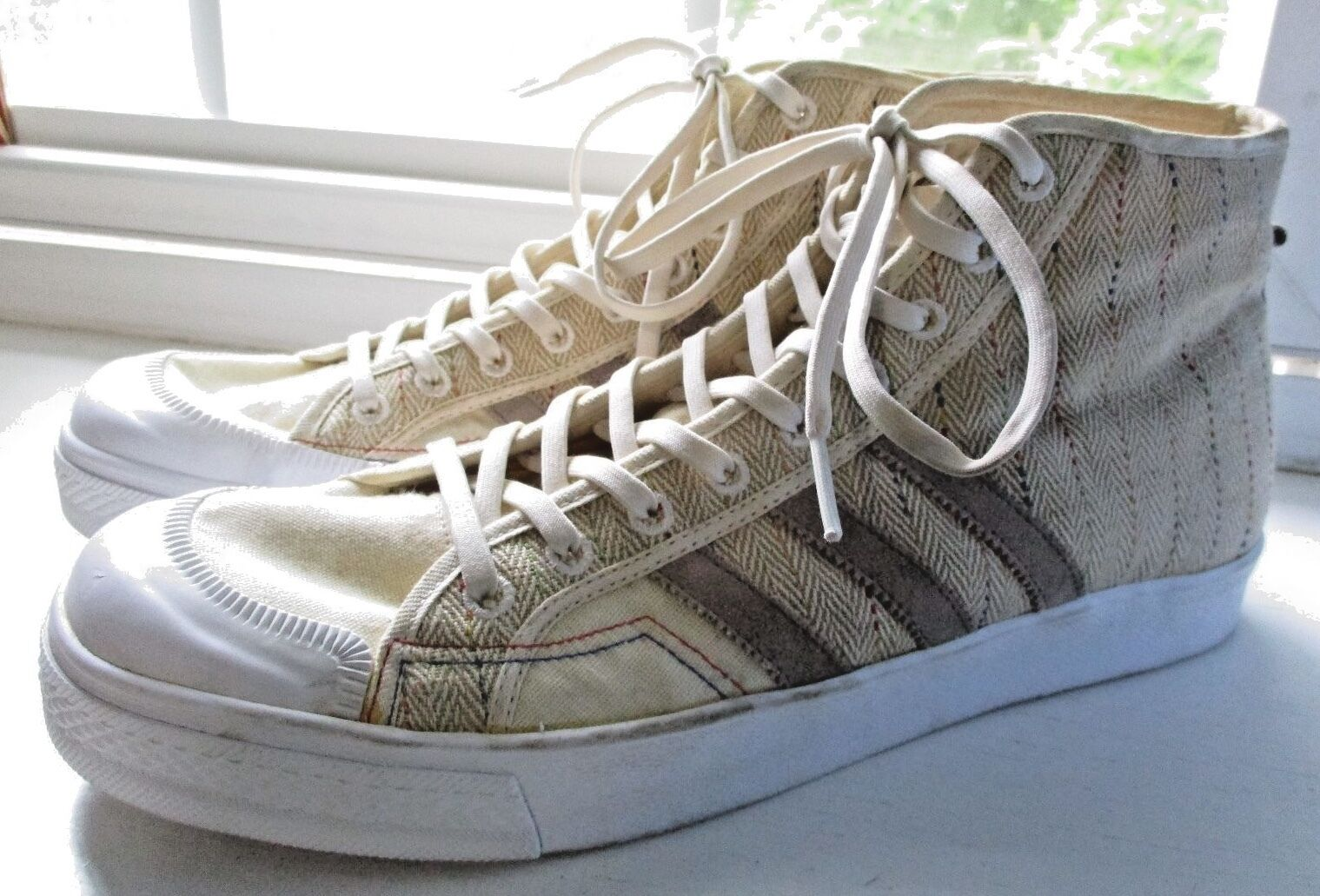 Men's ADIDAS Recycled High Tops SUPER GRUN Size 13 Fully Biodegradeable NEW