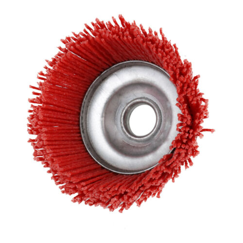 """4/"""" Cup Nylon Poly Abrasive Brush Grinding Wheel for Derusting 5//8/"""" Bore 80 120#"""