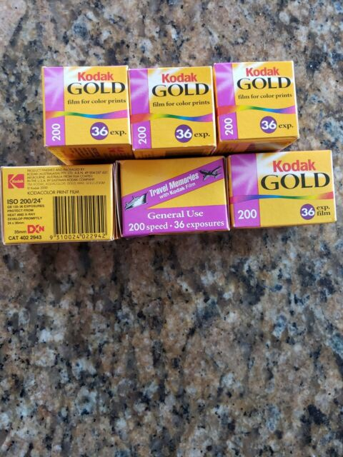 25 Rolls Kodak Gold GB ISO 200 35mm Color Negative Print Film 135 36 exposures