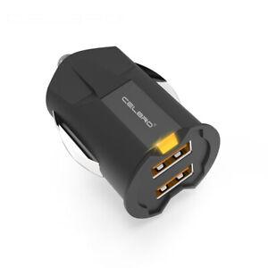 Detalles de CelBro Mini Cargador de Coche Dual 2A Usb para Tablets y Smartphones