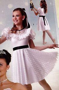 NEW-Wolff-Fording-Dance-Costume-Lyrical-Ballet-White-Lace-034-Clara-034-Girls-szs