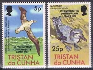 Tristan-da-Cunha-postfris-1982-MNH-331-332-Vogels-Birds-w093