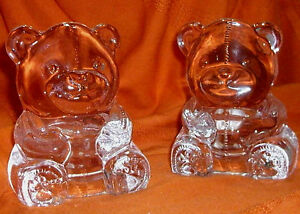 1-Partylite-Candle-Holder-Glass-Teddy-Bear-Tealight-4-034-NWOT