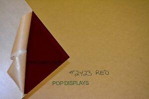 "red acrylic PLEXIGLASS sheet color #2423 1/4"" x 36"" x 24"""