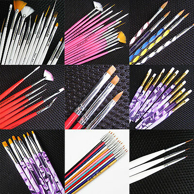 Nail Art Pen Brush UV Gel Acrylic Painting Drawing Liner Polish Brushes Tips #A