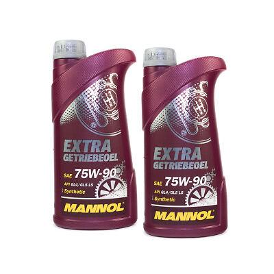 MANNOL Getriebeöl Extra Getriebeoel 75W-90 API GL 4/GL 5 LS 2 Stück á 1 Liter
