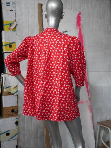 Mid Bluse True Century S Hippie chemise Minikleid Vintage paysanne Folklore 60er RBxq6IBwr