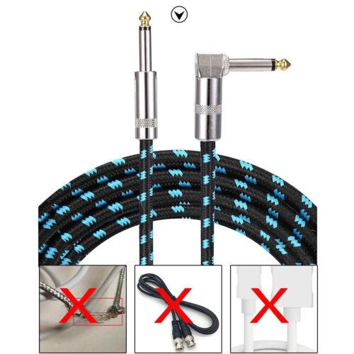 Gitarren kabel 3m rechter winkel 1//4 zoll zu gerade ts tastatur mikrofon pro