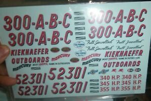 PPP-4 500//503//92//36 KIEKHAEFER MERCURY OUTBOARDS CHRYSLER Nascar Decal 1//25