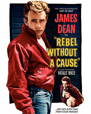 Rebel without a cause James Dean movie poster print B11