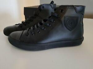 SAINT-LAURENT-women-High-Top-leather-Sneakers-black-size-39