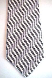 New-BIJOUX-TERNER-Mens-Dress-Tie-Grey-Designer-Silk-Luxury-Wide-Necktie-Clothing