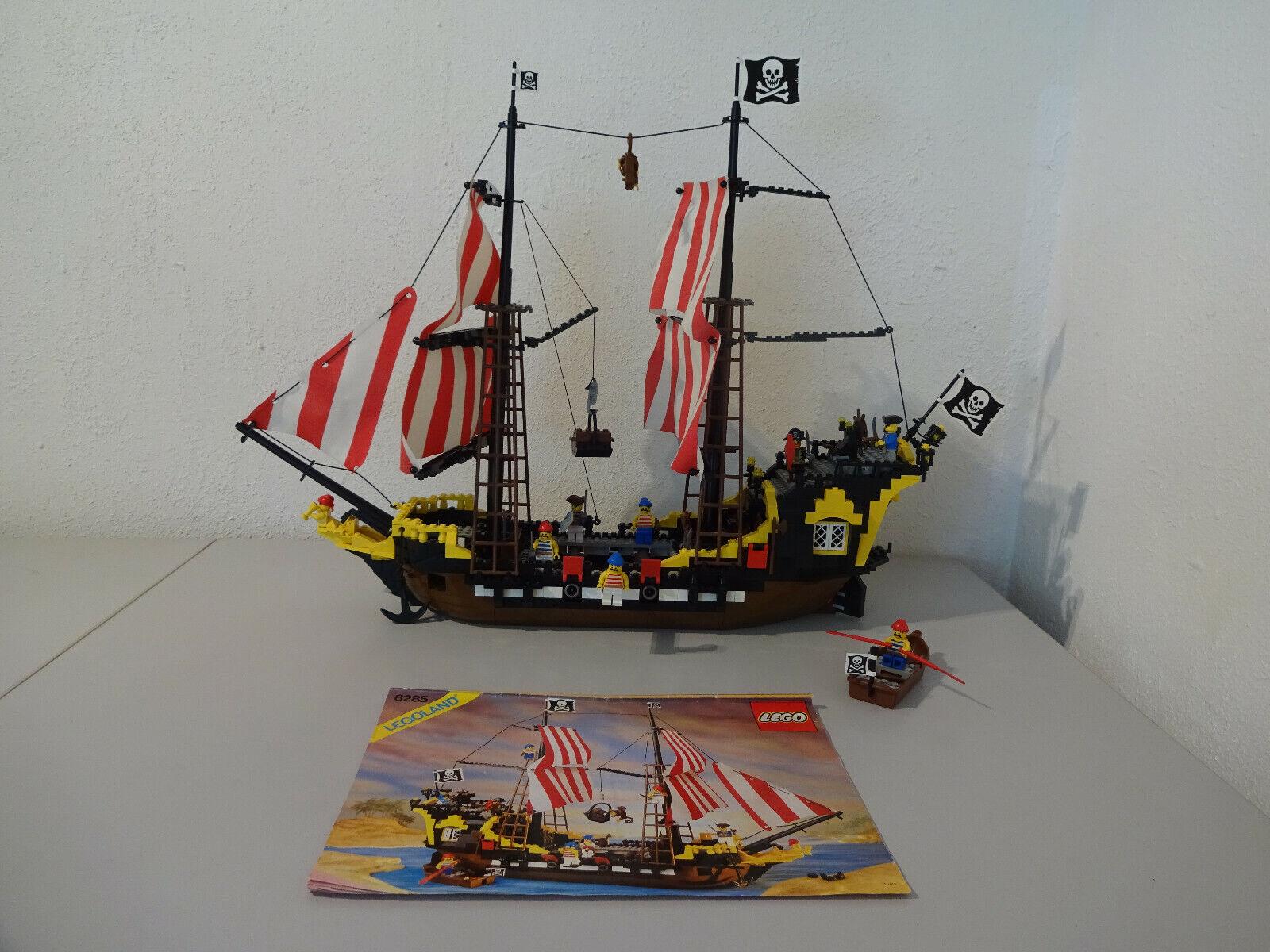 (TB) LEGOLAND 6285 schwarz SEAS BARRACUDA MIT BA 100 % KOMPLETT GEBRAUCHT SELTEN