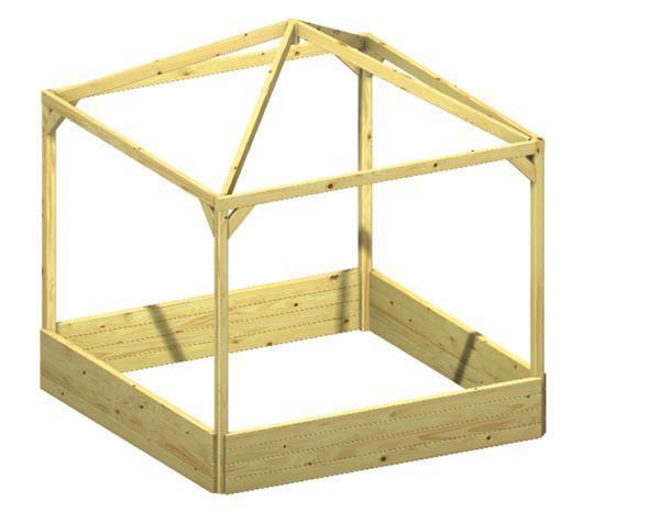 Kinderpavillon   Sandkasten BENJAMIN kdi 164x164x180cm    Bestellungen Sind Willkommen