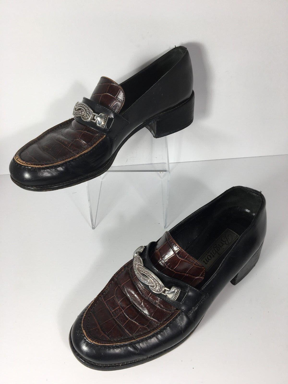 Vintage Brighton Brighton Brighton Sofia Mujer Mocasines Zapatos Talla 8.5 M Cuero Hecho en Italia  venta